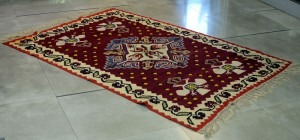 Pirot rug Late 19th century Dimensions: 244 x 168 cmcm (with thrums)