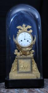 Clock - Bronze, mercury gilding - Empire, 1800, France Height: 48 cm