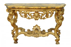 Console table, Siena marble  Louis XV style Second half of the 18th century Dimensions: 158 x 95 cm