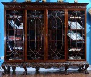 Bookshelf Mahogany, England, 1900 Chippendale style