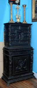Cabinet, engraving Italy, Genoa, early 19th century Dimensions: 165 x 84 cm