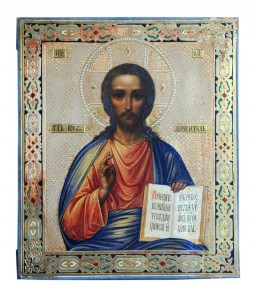 Icona Christ Pantocrator Imperial Russia, mid 19th century Dimensions: 31 x 28.5 cm