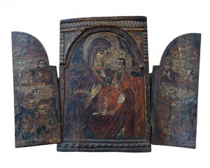 Triptych icon South Serbia, late 17th century