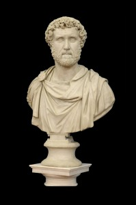 Imperator Antoni nus Pius Marble, Italy,18th century Height: 91 cm