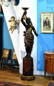 Figure Negress, Venice, the end of the 19th century.Height 220 cm