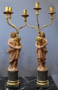 Figurines pair,Lois XV