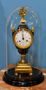 Clock bronze,mercury gilding,Empire,1815 France Height 44 cm